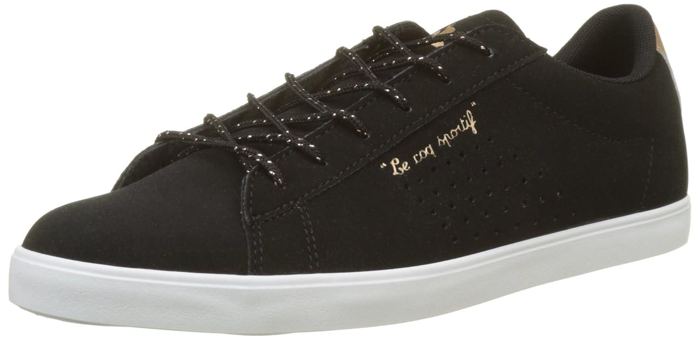 Le COQ Sportif Agate Metallic Black/Rose Gold, Zapatillas para Mujer 38 EU|Beige (Black/Rose Gold Noir)
