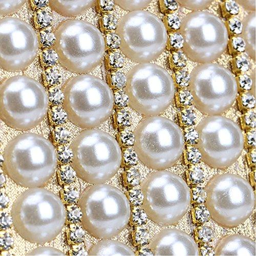 Europa De Las Vestido 1 De Cena Bolsa Novia 1 Qeqe Moda Mujeres De Perla La Crossbody color Bolsa Bolso De Del De América Y Noche La 4xqwzUZx