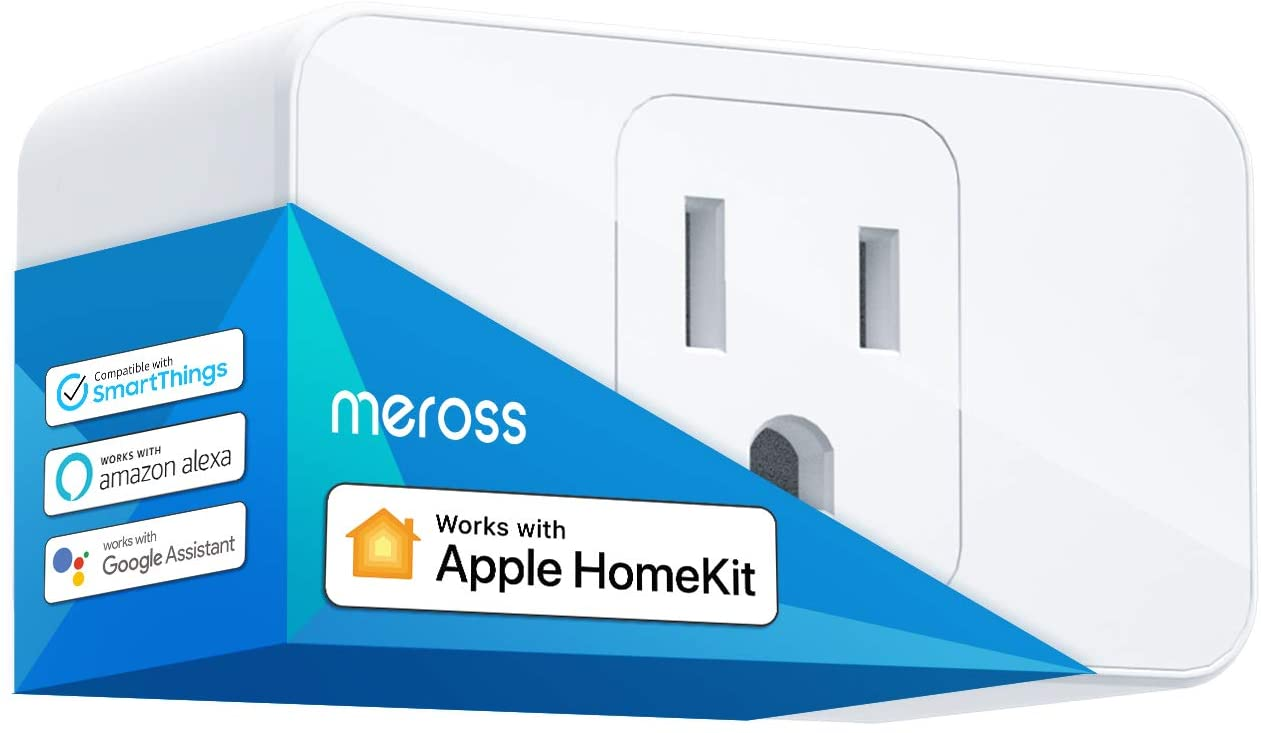 Meross Smart Plug Mini, 16A & Reliable WiFi, Support Apple HomeKit, Siri, Alexa, Echo, Google Assistant, Nest Hub and SmartThings, App Control, Timer, No Hub Needed, 1 Pack