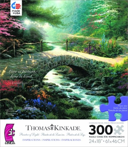 Thomas Kinkade Painter of Life Inspirations Series LOVE IS PATIENT, LOVE IS KIND 300 Oversized Piece Jigsaw Puzzle