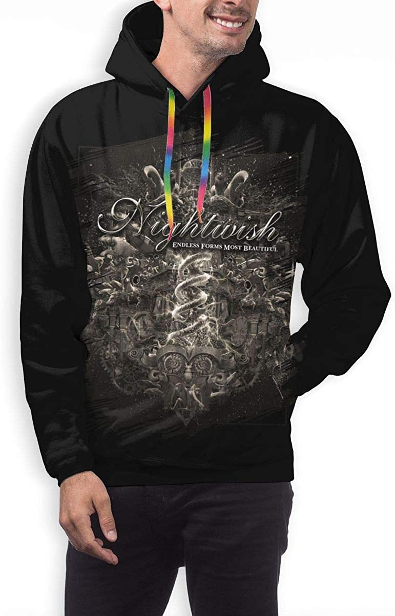 CHASIHAO Nightwish Endless Forms Most Beautiful Mens Hoodie Black