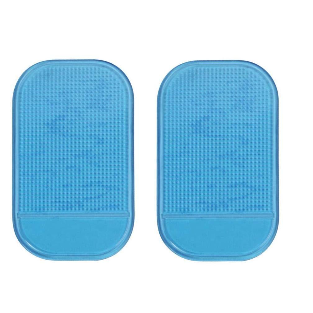 Dacawin 2PC Car Magic Anti-Slip Dashboard Sticky Pad Non-Slip Mat Holder for GPS (Blue)