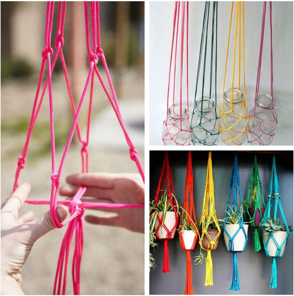 5 Pcs 50 Yard 2mm Rattail Cord Satin Cord Nylon Cord Silk Cord Chinese Knotting Cord Christmas Cording Macrame String Twine Rope Trim Shoe Laces for Craft Hanging Stringing Materials