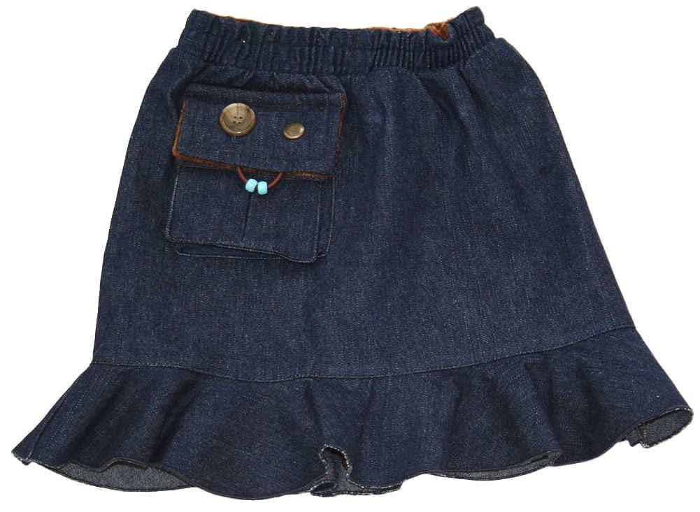 Kozie Clothes Girls' Elastic Waist Denim Compression Sensory Skirt/Skort C4013-4-$P