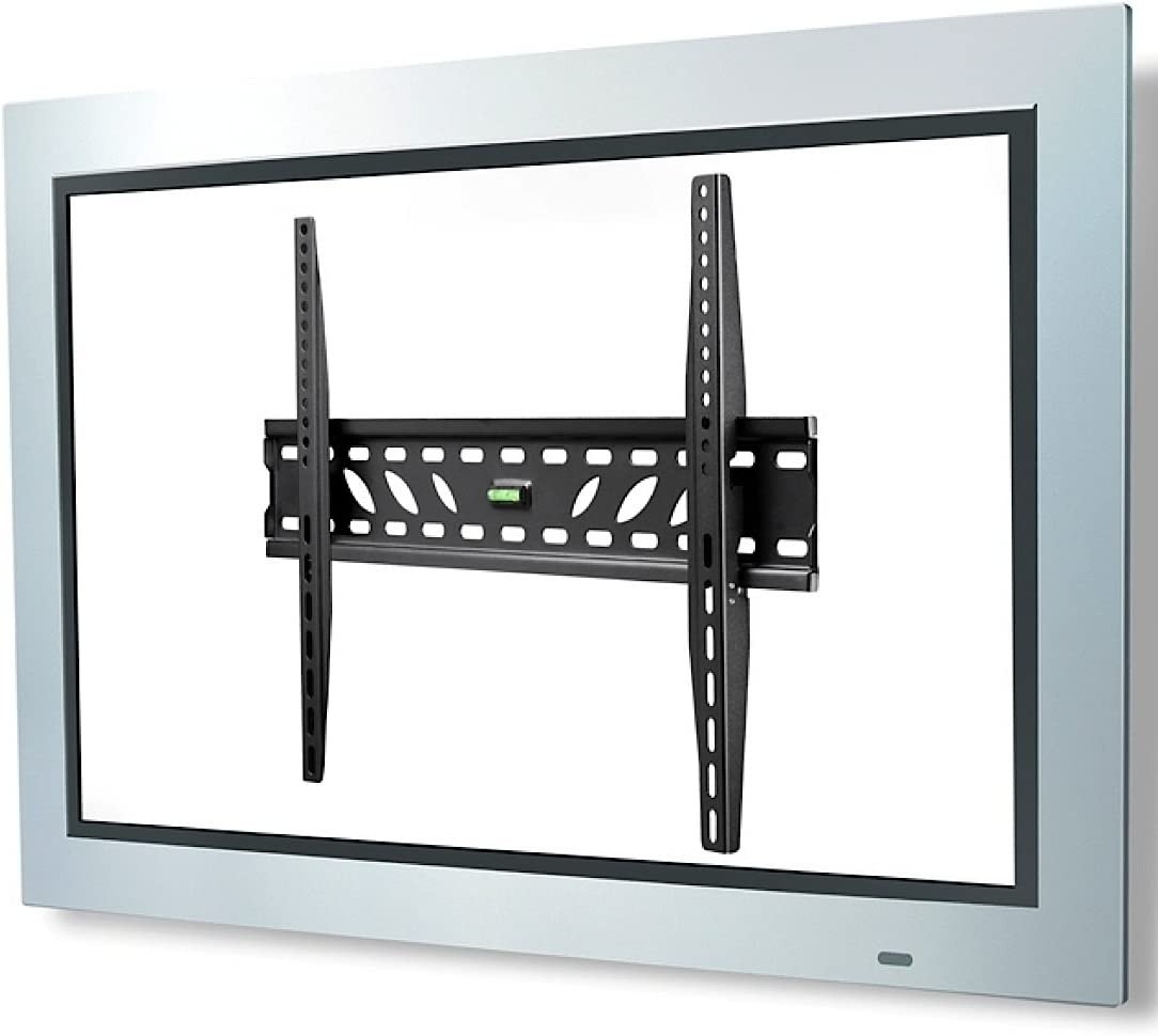Atdec TH-3060-UF Ultra Slim TV Wall Mount with Locking Mechanism for Displays up to 110-Pound, Black
