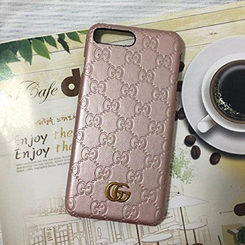 Pink Monogram Iphone (calbeebee iPhone 7Plus 8Plus - US Fast Deliver Guarantee FBA- New Fashion Elegant Luxury PU Leather Monogram Style Cover Case For Apple iPhone 7 / 8 PLUS (Pink Monogram))