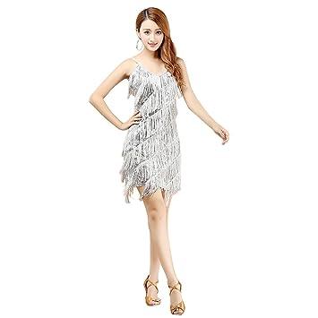 Supfirefly Danza Latina Mujer Traje Baile Falda Cha Cha Salsa Vestido Tango Samba Bailes de Salón