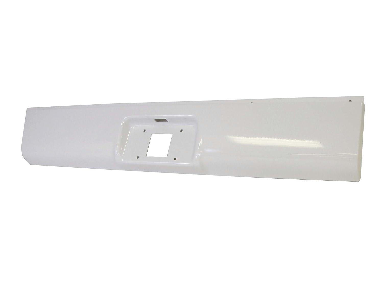 Fleetside Bed Type 07 Classic Bundle Painted White Rear Steel Roll Pan with License Plate Light Screws 99-07 Silverado Sierra