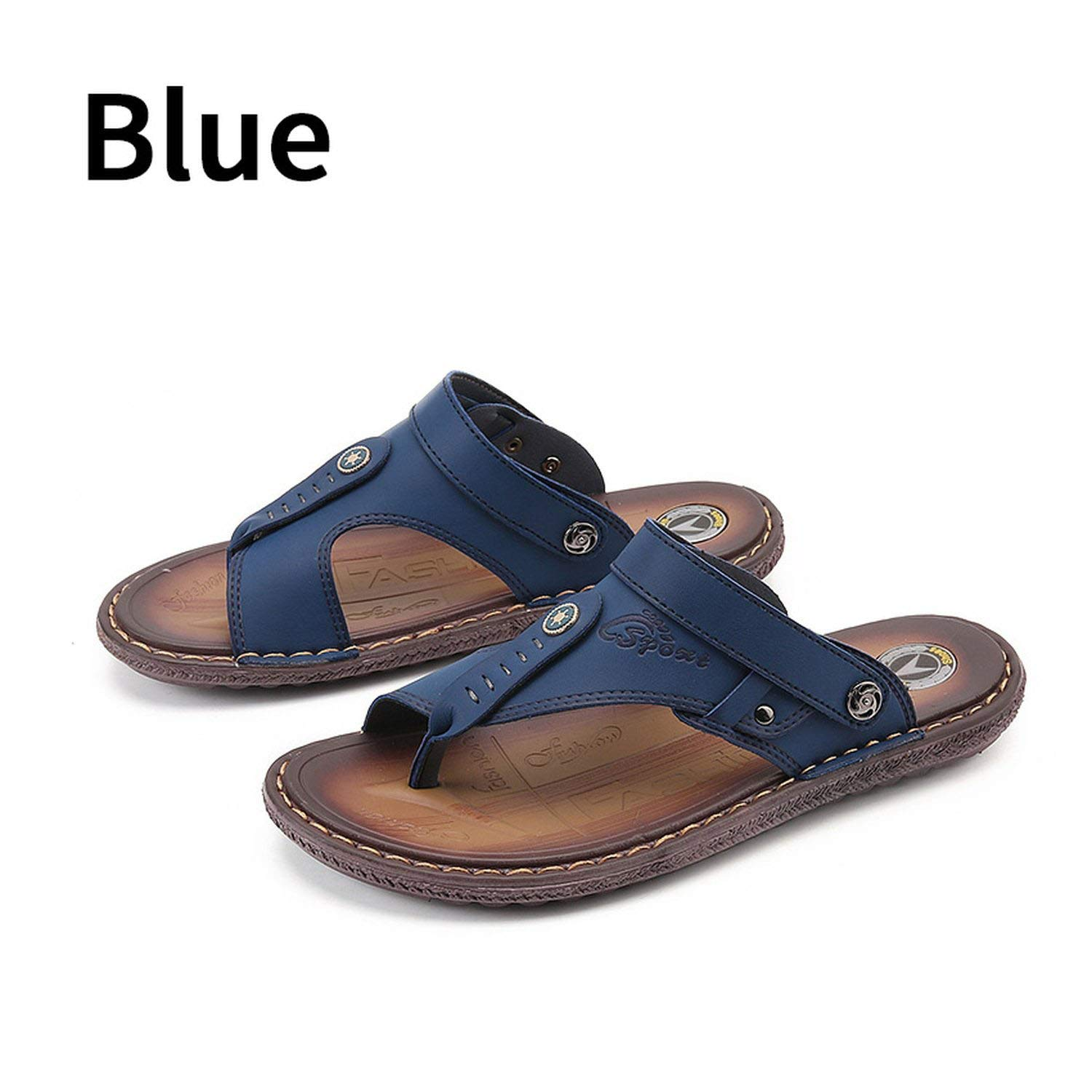 c971eb8286f I m good at you Brand Fashion Men Beach Sandals Leather Beach Sandals  Summer Breathable Casual Shoes