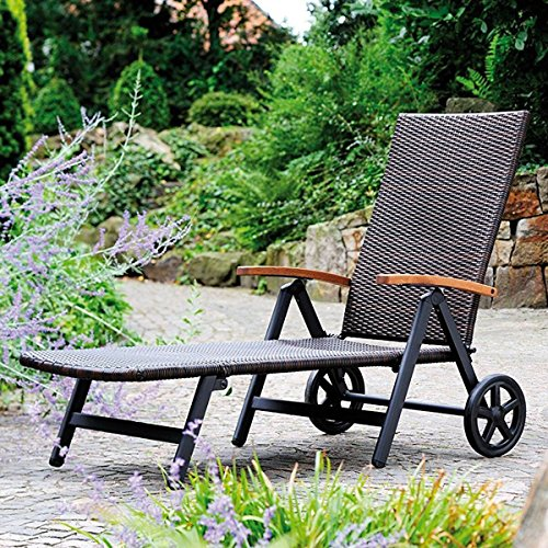 Tangkula Patio Chaise Outdoor Poolside Folding Recliner