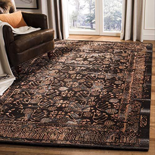 Safavieh Sapphire Collection SAP112A Handmade Light Brown and Rust Wool Area Rug (8' x 10') ()