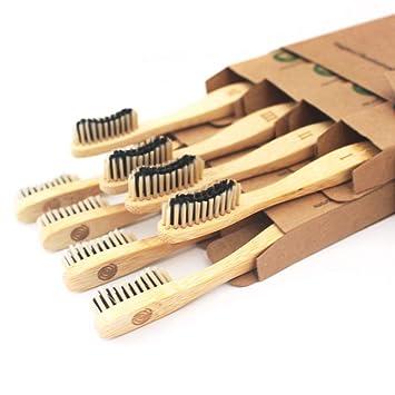 Amazon.com: Cepillo de dientes de bambú, cerdas con infusión ...