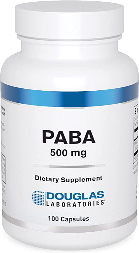 Douglas Laboratories - PABA (500 mg.) - Antioxidant Properties to Support Healthy Skin and Hair - 100 Capsules