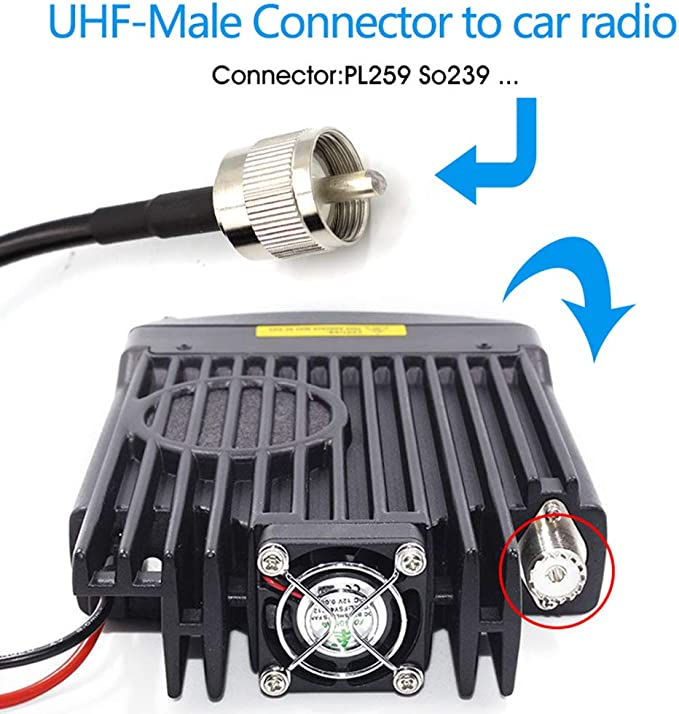 430Mhz pour radio voiture Moible radio Bobury NL-R2 PL259 Antenne /à double bande Gain /élev/é 144