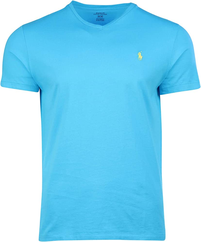Polo Ralph Lauren Hombre Corte Clásico Cuello de Pico t-Shirt-Blue ...