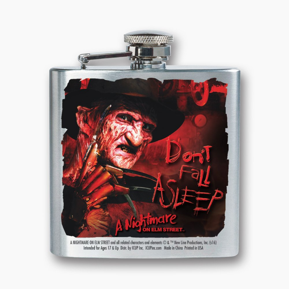 ICUP Nightmare On Elm St Stainless Steel Flask Dont Fall Asleep 8oz