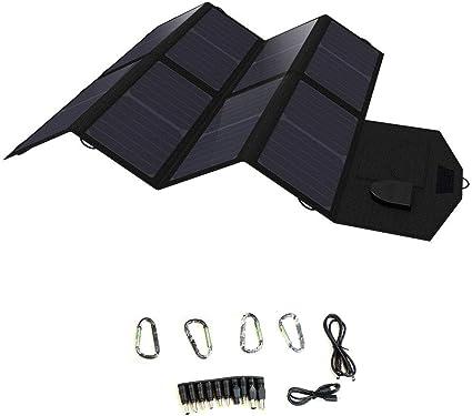 QWERDF - Cargador Solar portátil de 40 W, Panel Solar ...