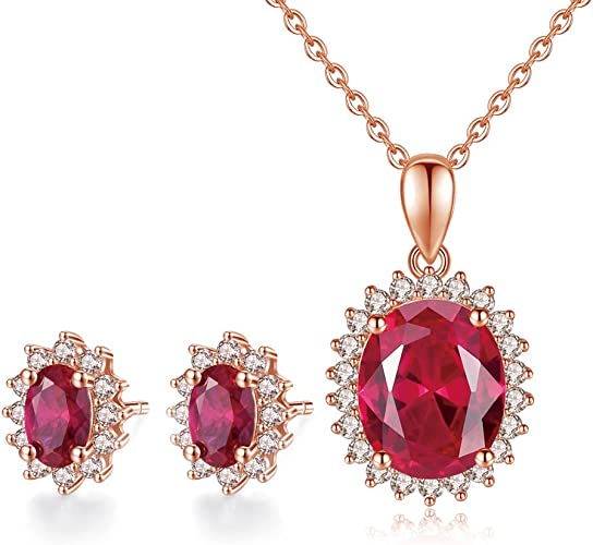 Amazon Com Guiji Classic Women Earrings Necklace Jewelry Set