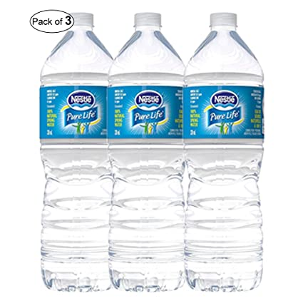 8fcfce8c76 Nestle Pure Life Natural Spring Water Plastic Bottle 1.5L (Pack of 3):  Amazon.ca: Grocery