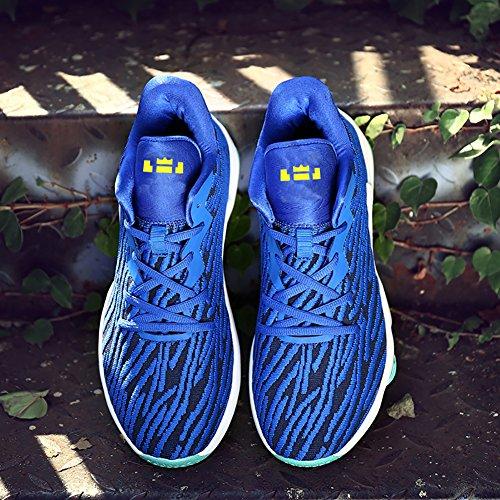 No.666 Stadt-Paar-Männer Flyknit Tennis-laufende Schuhe Turnschuh, Basketball-Schuhe Blau