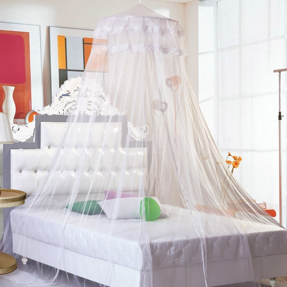 Hanging Round Lace Canopy Bet Netting Mosquito Net for ...