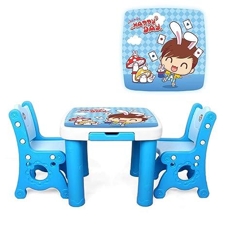 Amazon.com: Mesa de estudio infantil y silla para niños ...