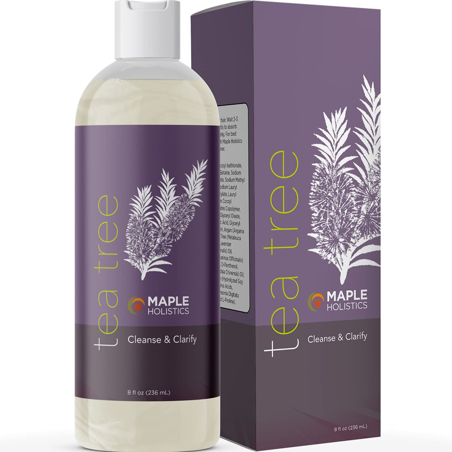 Maple Holistics - Tea Tree Shampoo, 8 oz. (236 ml)