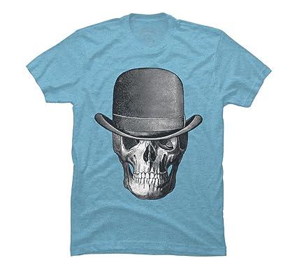 7fb6dadd3 Amazon.com: Design By Humans Vintage Skull Head Cowboy Men's Graphic ...