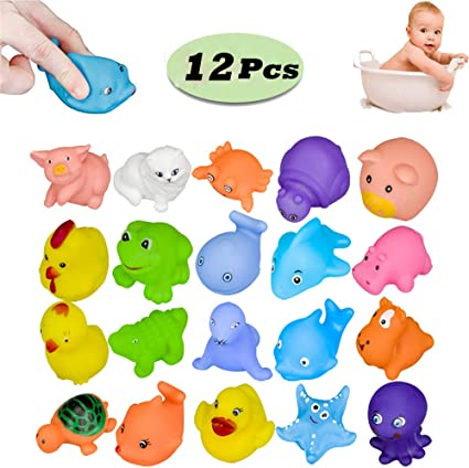 Sqeeze Bath Toy Safe Rubber Floating Squeaky Plane