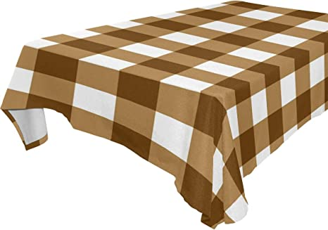 BROWN SQUARE TABLECLOTH POLYESTER TABLE CLOTH VARIOUS SIZES BROWN TABLECLOTH