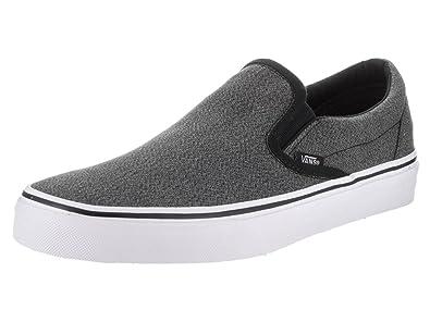 Vans Unisex Classic Slip-on (Suiting) Black/True White Skate Shoe 8.5 Men US/10 Women US 5r1EF