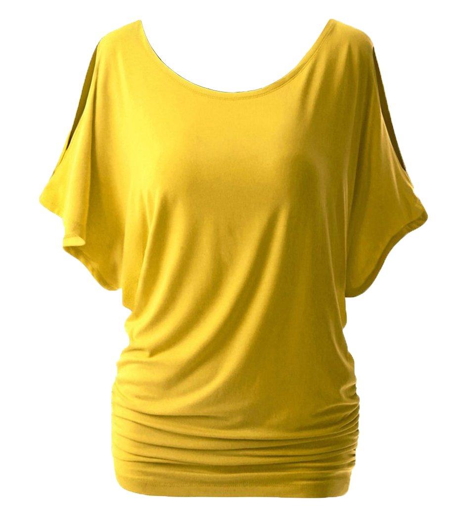 Camisas Blusas Camisetas Tops Hombro Desnudo Elegante Suelto y Confortable