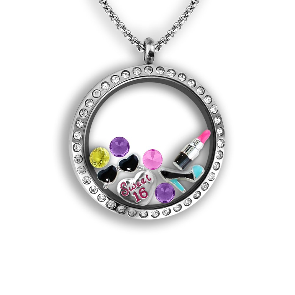 A Touch Of Dazzle Sweet Sixteen Gift Girls Girl Birthday Charms Locket Teen