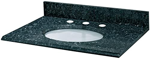 Pegasus PE31905 31-Inch Blue Pearl Granite Vanity Top with White Bowl and 8-Inch Spread
