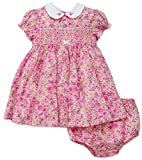 Little Me Baby Girls Easter Dress Smocked with Panty (6 months)