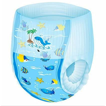 6 PCS Pequeños Reutilizables Nadadores,GZQES,Pañales para Bebé de natación impermeable,Color