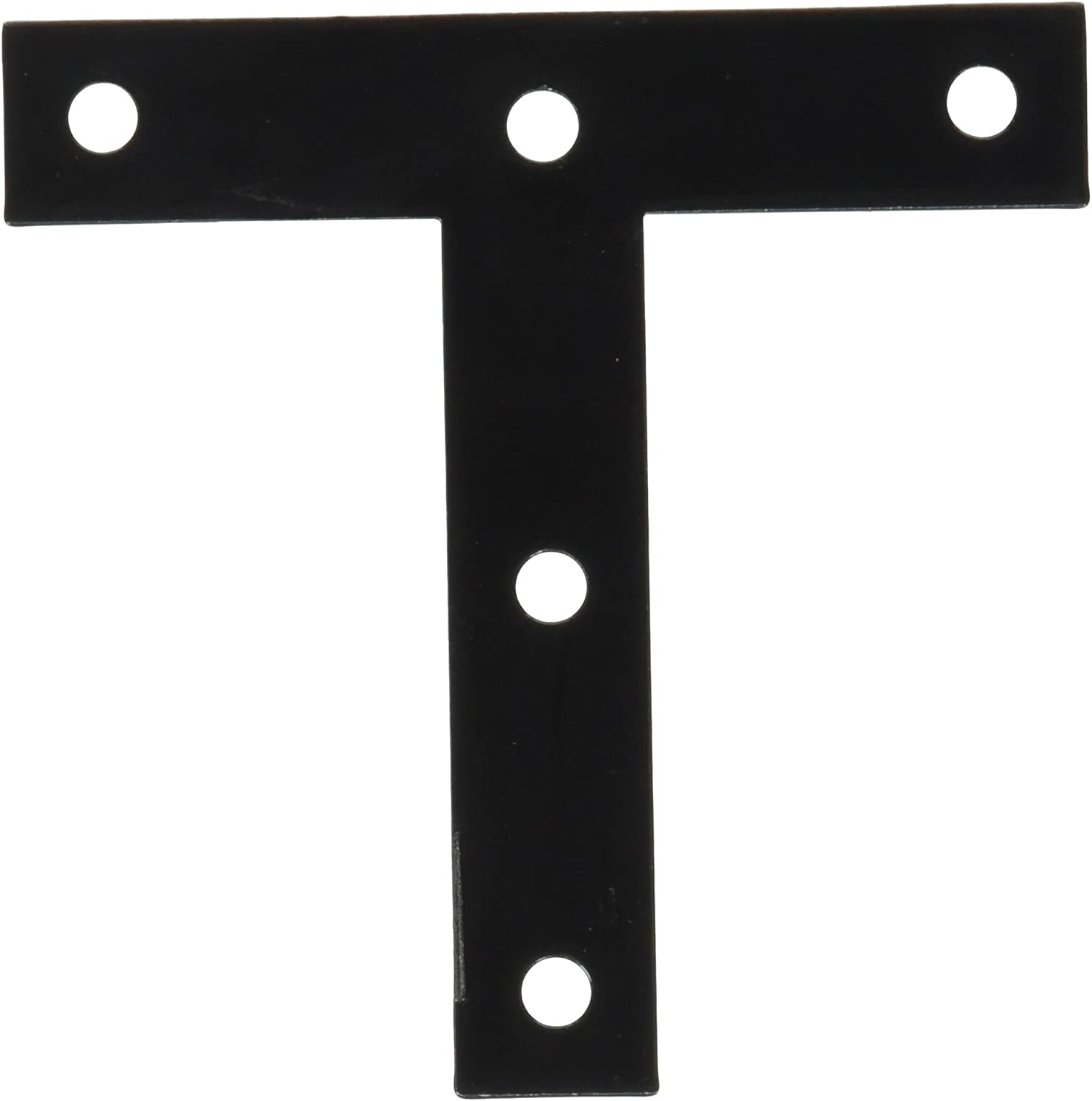 National Hardware N266-470 116BC T Plates in Black finish,4