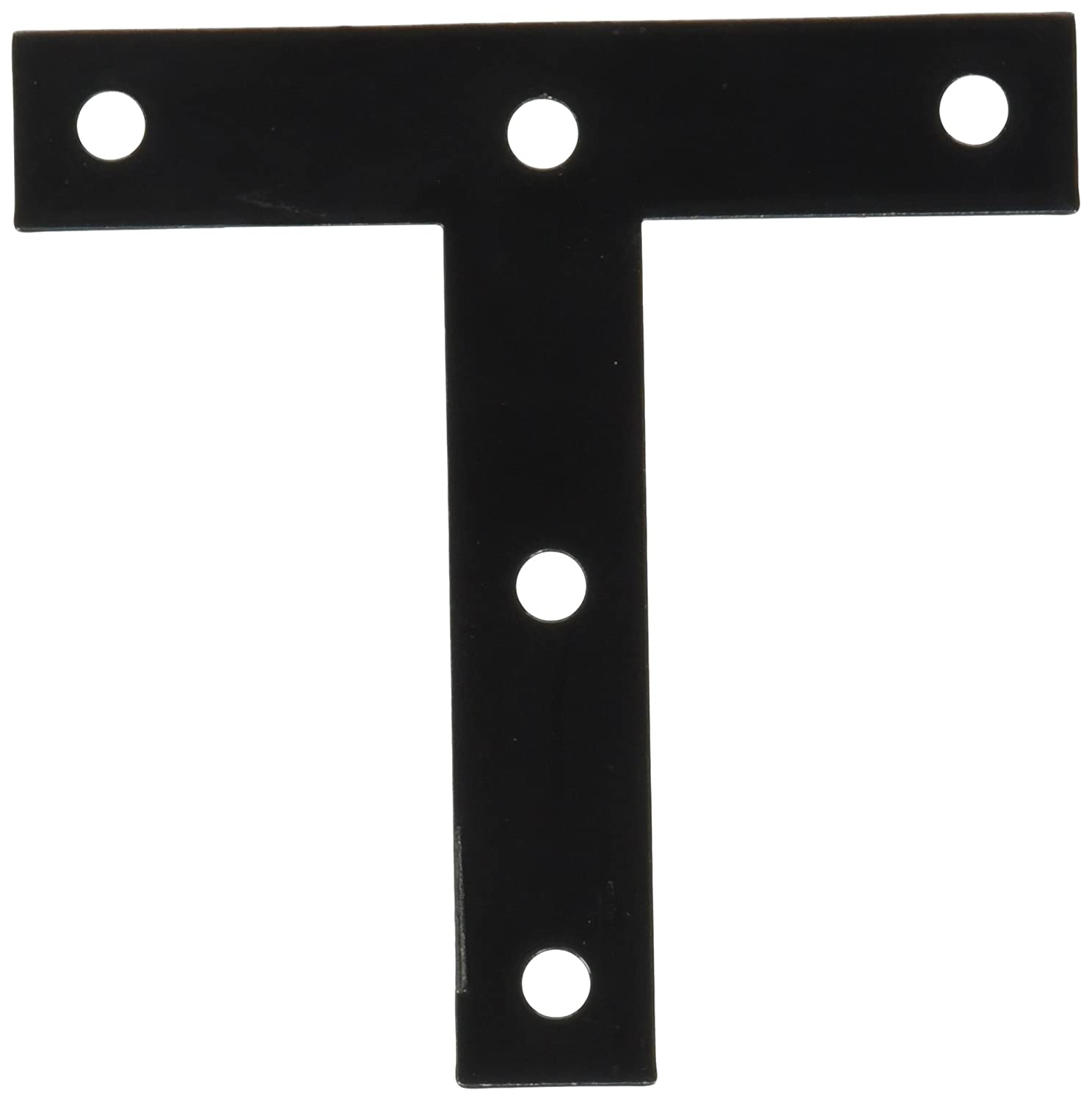 National Hardware N266-470 116BC T Plates in Black finish Stanley Hardware - National Manufacturing