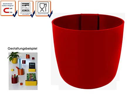 Kalamitica Magnetic Wall Storage Pot U2013 Assorted Wall Decoration Ball,  Colour: Red, Diameter