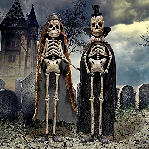 Day of the Dead King and Queen Metal