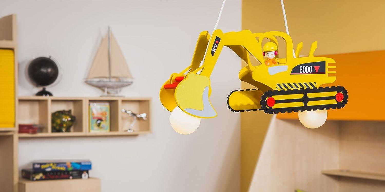 MIA Light Bagger Bodo Hänge Leuchte Kinder/ Gelb/ Pendel Lampe ...