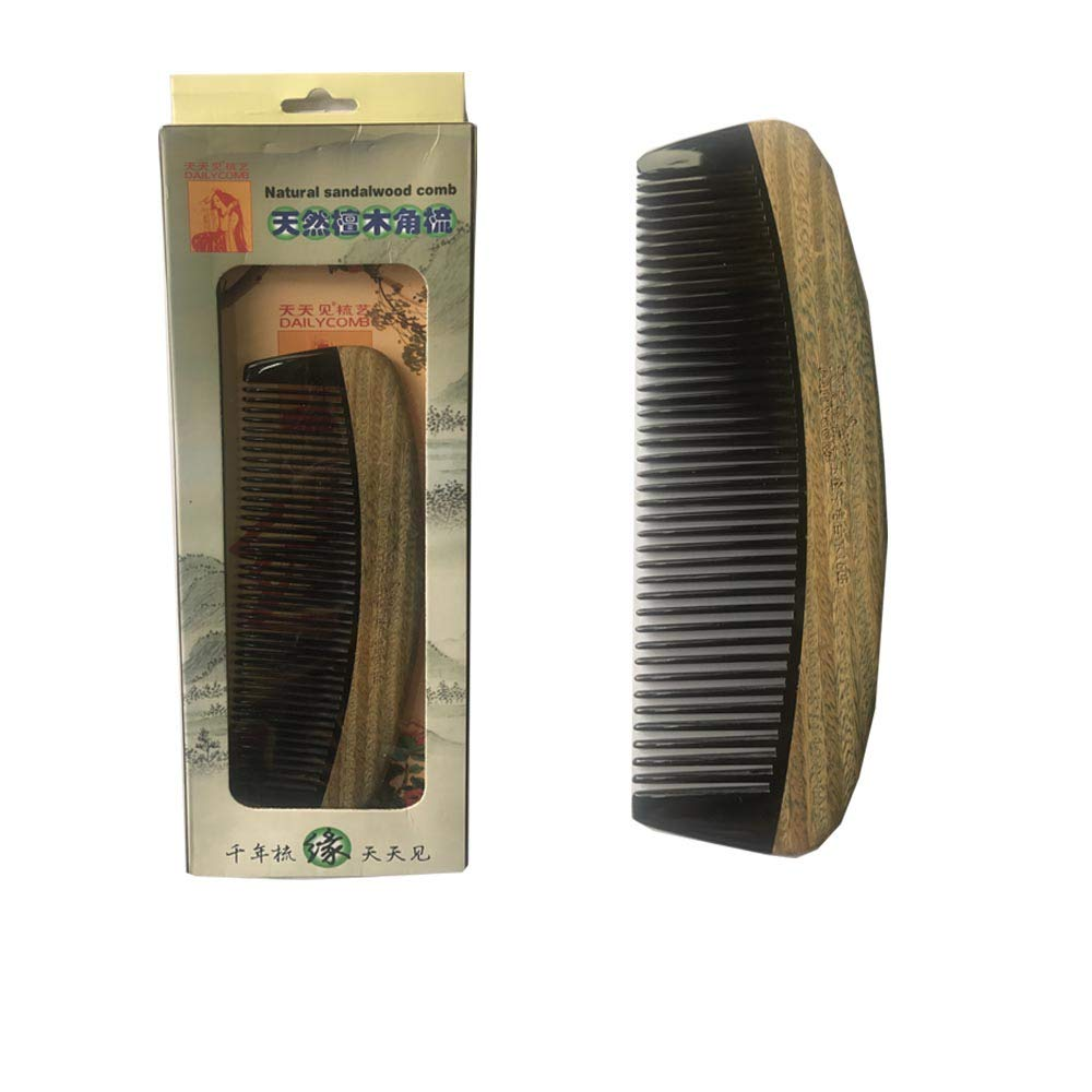 Natural Health Care Sandalwood Hair Comb Anti-Static Beard Comb Comb of Hair Brush Hairbrush Men Women JinXiu