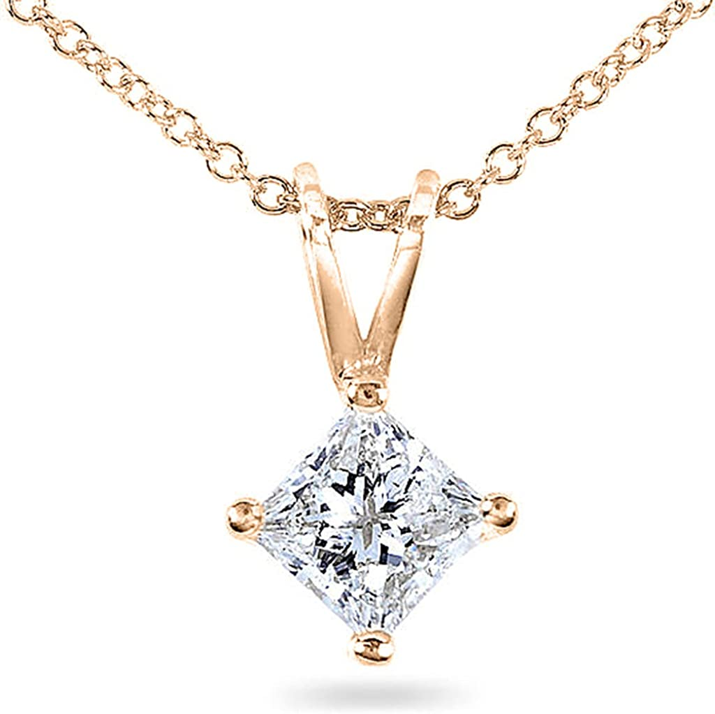 PARIKHS Princess Cut Diamond Set Promo Quality-Screw Back White /& Yellow Gold