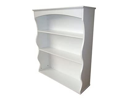 Right Deals UK Polar Wall Mounted Shelving Unit - White 3 Book Shelves  Ideal for Bedroom, Kitchen, Bathroom or Hallway