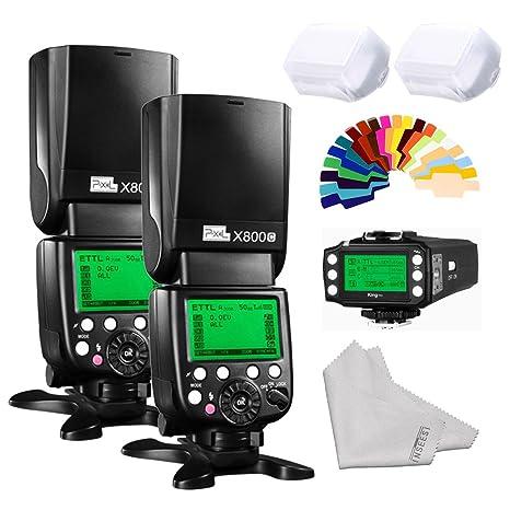 Kilos Pixel X800 C Pro inalámbrico DSLR Cámara Flash Speedlite 2 ...