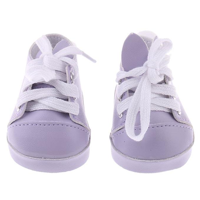 Sharplace Coppia Di Scarpa Sneakers Ginnastica Palloncino Pom Paffuto Orecchie Coniglio Per Bambola Accessorio 18 Pollici fmkty4MnBP