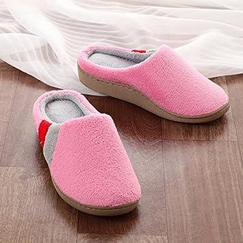 chaussures de sport a2cbe 93a53 Couple d'hiver chaussons grande taille coton code coton ...