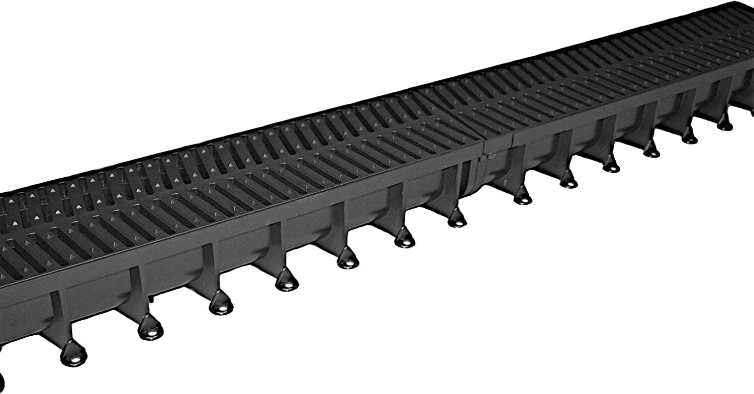 4 x Heavy Duty A15 Easy Flow Storm Aco Shallow Flow Linear Driveway Drainage PVC Channel 1 Metre 1M 4