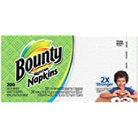 Bounty Paper Napkins, White or Printed, 200 Count