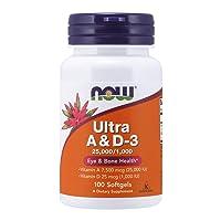 NOW Supplements, Vitamin A & D3 25,000/1,000 IU, Eye Health*, Essential Nutrition...